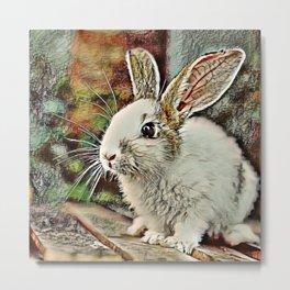 Toony Bunny Metal Print