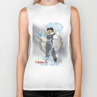 dbz Biker Tanks featuring DBZ Tesla Milky Way by Hushy