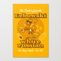 the big lebowski Canvas Prints featuring The Big Lebowski by Giovanni Costa
