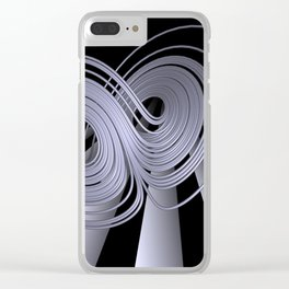 black-and-white - Lorenzattractor -2- Clear iPhone Case