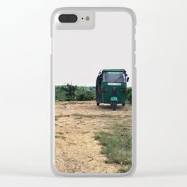 Tuktuk on a mountain top Clear iPhone Case