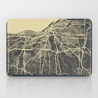 cleveland iPad Cases featuring Cleveland map by Map Map Maps