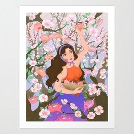 Secret Dreams: Piggie Fruits Art Print
