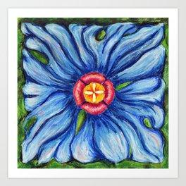Beaux Arts Blue  Art Print