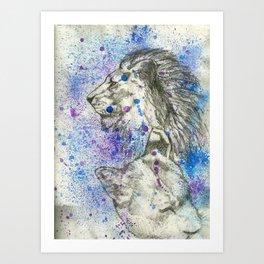 Lion & Lioness  Art Print