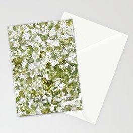 Olivine jewel heap texture Stationery Cards