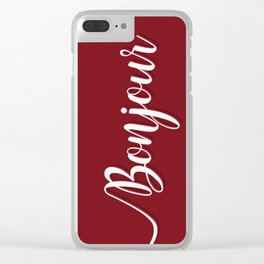 Bonjour Clear iPhone Case