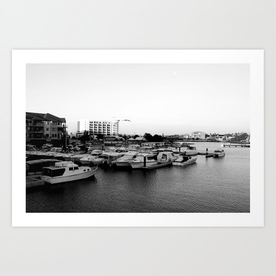 Boat Harbor. Mandurah, Western Australia Art Print