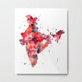 India Map Metal Print