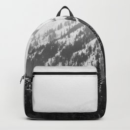 Fading Mountain Winter - Snow Capped Nature Photography Backpack