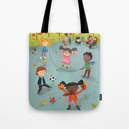 New York Fall Playground Tote Bag