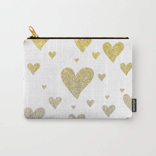 Glitter Hearts Carry-All Pouch