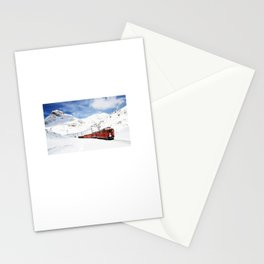 snow train Stationery Cards