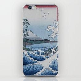 Sea Off Satta - Japanese Woodblock Print by Hiroshige iPhone Skin