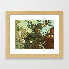 RETRO Mid Century Modern Abstract Pattern Geometric Art by Michel Keck Framed Art Print