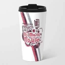 No Music No Life Travel Mug