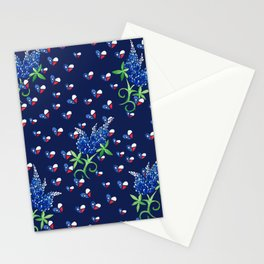 Texas Bluebonnets Texan Lone star state Stationery Cards