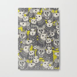 sweater mice chartreuse Metal Print
