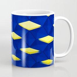 Trapez 2/5 Blue & Yellow by Brian Vegas Coffee Mug
