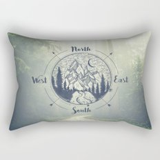 Compass Mountain Road Trip Rectangular Pillow