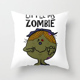 Little Ms Zombie Throw Pillow