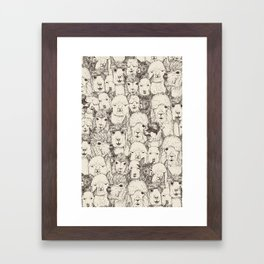 just alpacas natural Framed Art Print
