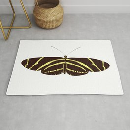 Heliconius charithonia - Zebra Longwing Butterfly Rug