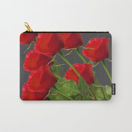 BOUQUET OF  RED LONG STEM ROSES  DESIGN Carry-All Pouch