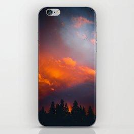 Bend Oregon: sunset & rainbow iPhone Skin