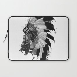 black and white headdress Laptop Sleeve