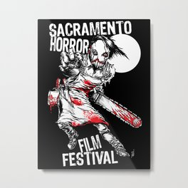 Slashy 2018 Sacramento Horror Film Festival mascot Metal Print