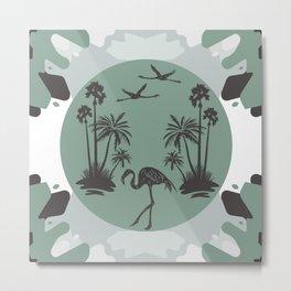 Malibu Summer - Mid-Century Modern Green Metal Print