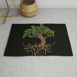 Rope Tree of Life. Rope Dojo 2017 black background Rug