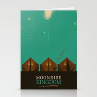 moonrise kingdom Stationery Cards featuring MOONRISE KINGDOM by VAGABOND