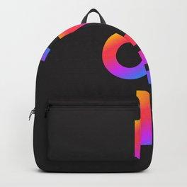 Love, inspirational typography, inspiring illustration for strong women, gift for her Backpack