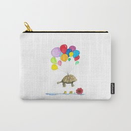 Mr Tortoise with Balloons Carry-All Pouch