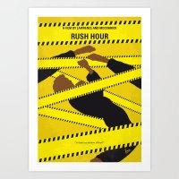 No816 My Rush Hour minimal movie poster Art Print