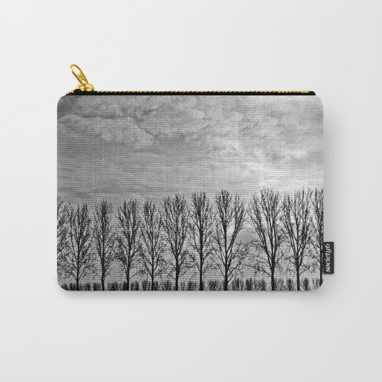 Black and white landscape Carry-All Pouch
