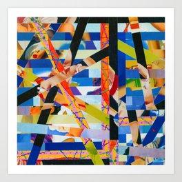 Bird's Nest Stripes 6 Art Print
