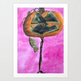 Citrouille Art Print