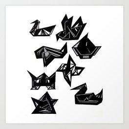 Origami Geometrics Art Print