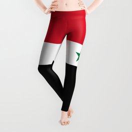Syrian flag - may PEACE prevail Leggings