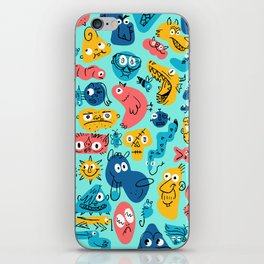 Colorful Character Shapes iPhone Skin