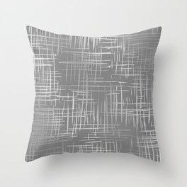 Crosshatch Gray Throw Pillow