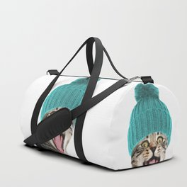 Cat with hat illustration Duffle Bag