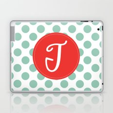 Monogram Initial T Polka Dot Laptop & iPad Skin