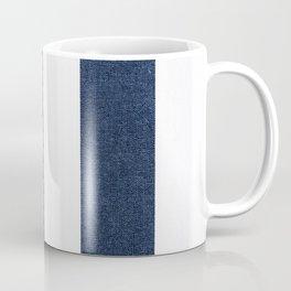 Nautical Blue White Stripes Coffee Mug