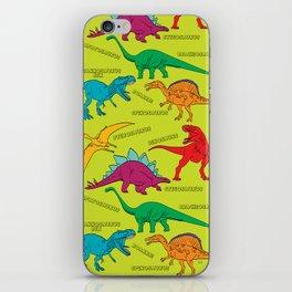 Dinosaur Print - Colors iPhone Skin
