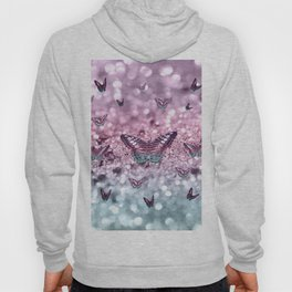 Pastel Unicorn Butterfly Glitter Dream #2 #shiny #decor #art #society6 Hoody