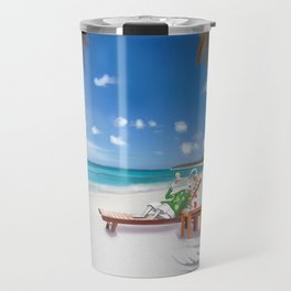 Corky's sunbathing Travel Mug